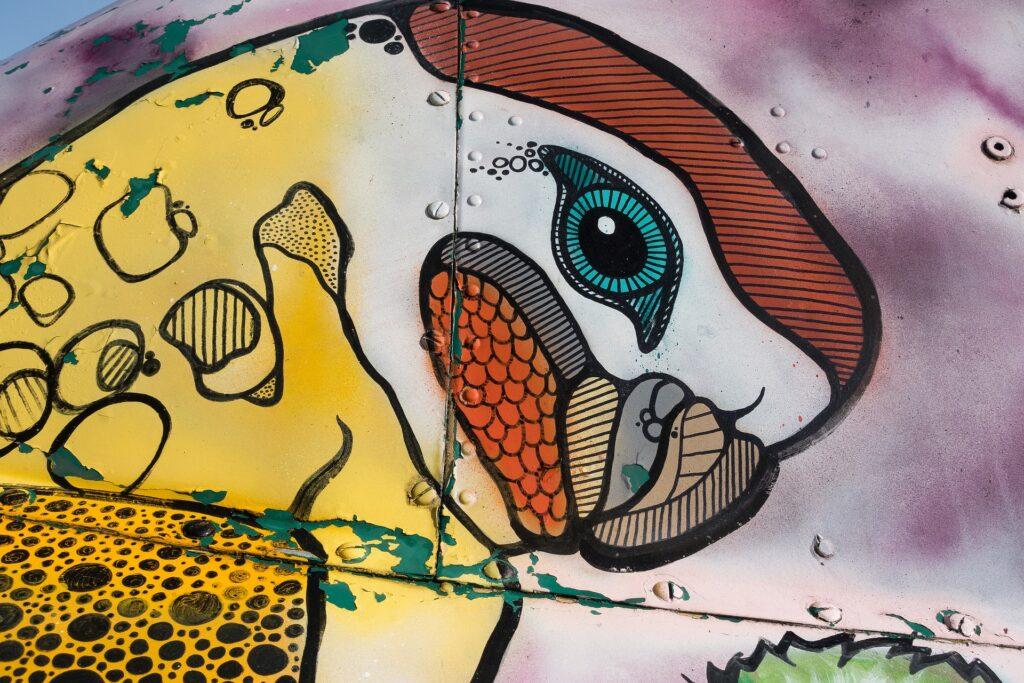 Abstraktes Graffiti