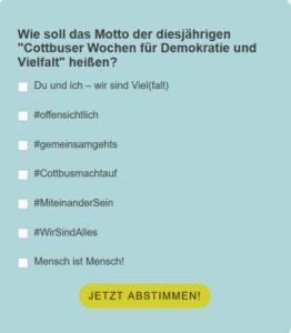 Abstimmungsmöglichkeiten Motto Abstimmung