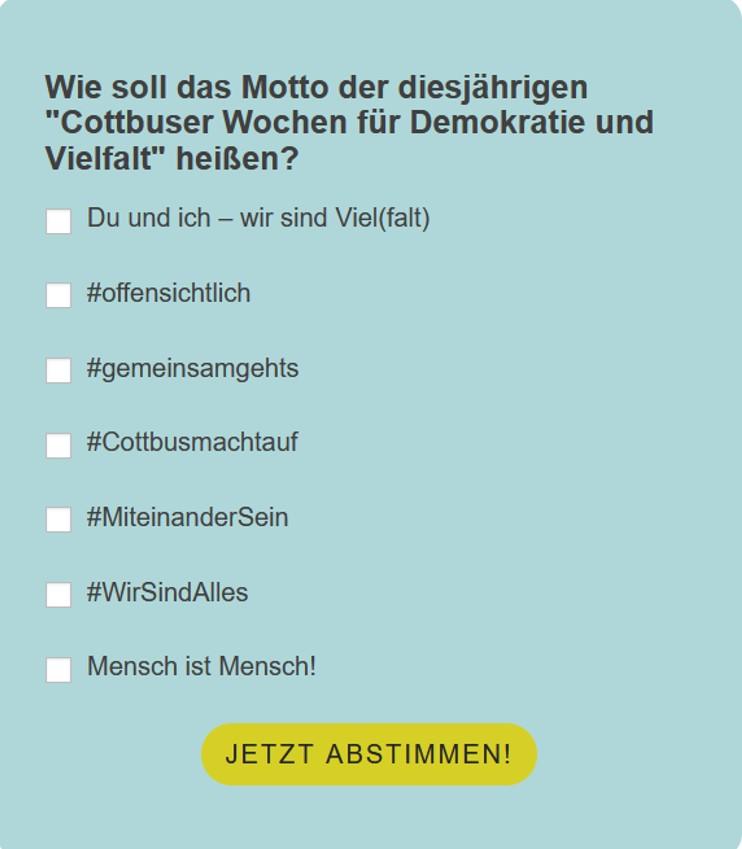 Read more about the article CWDV Motto gesucht!<br>Jetzt mitentscheiden und abstimmen!